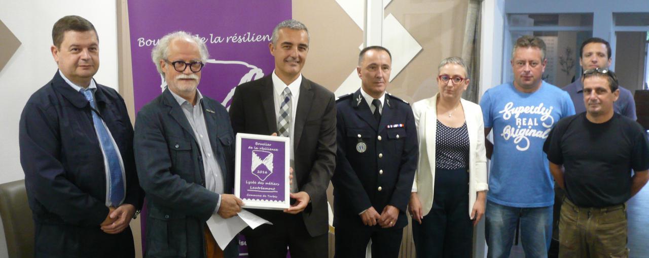 Remise au lycée Lautréamont de Tarbes le 14 septembre 2016